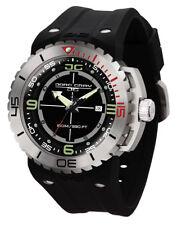 Jorg Gray JG8700-11 Mens Watch 47mm Swiss Rhonda Movt Black Silicone Strap