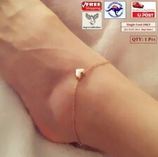 1 Pc Fashion Love Heart Anklet Bracelet Foot Jewelry Gold Color Women [A9R~B28]