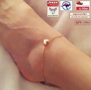 1 Pc Fashion Love Heart Anklet Bracelet Jewellery Gold Colour Women [A9R1~B28]