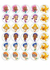 30 Bubble Guppies Cupcake topper Edible Rice Wafer Paper.
