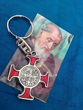 St Saint Benedict Cross Medal  Key Chain / Cruz De San BENITO en Llavero