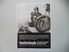 advertising Pubblicità 1973 TECHNISUB TECHNI SUB - GENOVA
