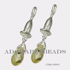Authenitc Chamilia Sterling Silver Drop Briolette Yellow Earring Bead 1320-0003