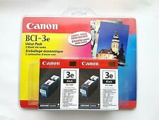 canon bci-3e value pack 2 black ink tanks with sample photo paper 2005