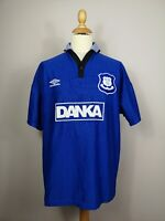 Everton FC 1996/1997 Umbro Home Vintage Football Shirt Blue Large