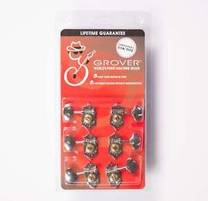Grover V97-18NA Sta-Tite 18:1 3x3 Guitar Tuners Nickel, Vertical