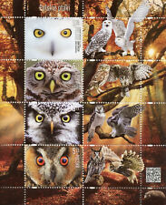 Poland 2017 MNH Owls Snowy Little Owl 4v + Labels M/S Birds Stamps