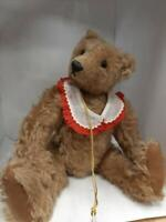 "Rare Vintage 14"" Mohair Teddy Bear by Artist Carolyn Jacobsen, Nodder head"