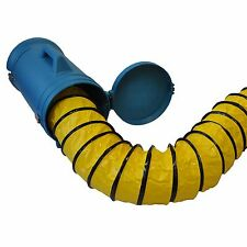"""XPOWER 8DHC25 8""""x25 Ft Extra Flexible Duct Hose Exhaust Hose w/ carrier, 20-180F"""