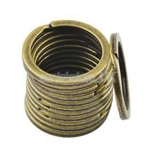 12PCS 28mm Split Hoop Key Rings Key Chain Holder Antique Bronze DIY