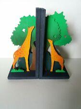 Wooden bookends (large) - Giraffe