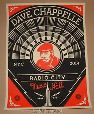 Dave Chappelle Shepard Fairey New York Concert Art Print Poster Signed Numbered