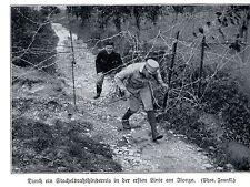 1915 Durch ein Stacheldrahthindernis in der ersten Linie am Isonzo *  WW1
