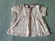 Baby Girls 12-18 Months - Pink/White Check Short Sleeve Tunic Top - Cherokee
