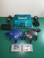 Nintendo N64 Ice Blue Clear console,JP IMPORT, Region Free, Games-US SELLER