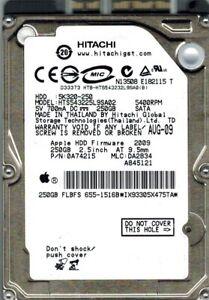 HTS543225L9SA02 Hitachi MLC: DA2834 P/N: 0A74215 MAC 250GB APPLE