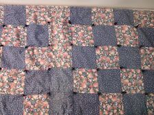 """patchwork quilt handmade small vintage 42"""" x 66"""""""