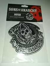 Sons Of Anarchy Grimm Reaper EMBROIDERED PATCH iron/sew Officially Licensed NEW