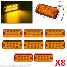 8pcs 12V Car Truck Trailer Lorry Caravan 8 LED Side Marker Light Lamp Waterproof