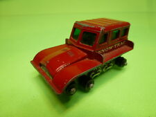 LESNEY MATCHBOX 35 SNOW TRAC  - RED 1:65? - NICE CONDITION