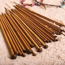 36Pcs 18 sizes 5'' Single Pointed Carbonized Bamboo Smooth Knitting Needles Set