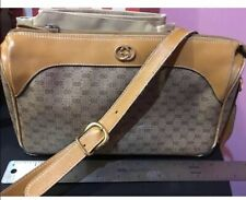 Vintage Gucci Brown Logo Purse Crossbody
