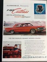 1961 Oldsmobile F-85 Cutlass Original Advertisement 11x14 Print Art Car Ad LG63