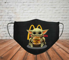 Baby Yoda Hug Hamburguesa Mcdonalds Face Mask
