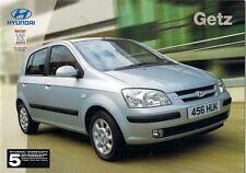Hyundai Getz 2003-04 UK Market Sales Brochure 1.1 1.3 1.6 GSi CDX Sport