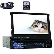 7 Inch Single Din Car Stereo Bluetooth USB Headunit DVD Autoradio MAP SD +Camera