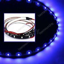 2x 15 SMD Blue LED Strip Light Motorcycle Car Daytime Running Fog Lamp DRL 12V