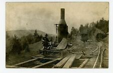Railroad Construction—Antique Train RPPC Occupation—Salamanca NY Photo 1910s