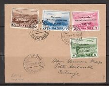 Italian Occupation Of Montenegro #3NC1 - #3NC4 Very Fine Used On Cover To Cetinj