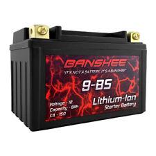 Banshee DLFP9-BS Premium Light Weight Lithium Motorcycle Battery