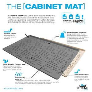 Xtreme Mats Under Sink *Bathroom* Cabinet Mat Drip Liner - Various Sizes/Colors