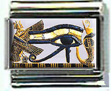 EYE OF HORUS EGYPTIAN  Photo Italian 9mm charms for modular link bracelets
