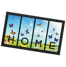 Zerbino gomma farfalle 40x70 antiscivolo tappeto entrata interno esterno robusto