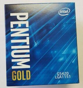 Intel Pentium Gold G5420 Desktop Processor 2 Core 3.8 GHz LGA1151 300 Series NEW