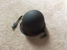 Miniature WW2 U.S. HELMET (M-1 Front Seam / Liner with chin strap)