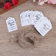 100XKraft gift tags Thank You paper tags for baby shower party wedding gift UK