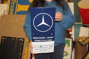"Mercedes Benz Original Parts Car Dealership Gas Oil 17"" Porcelain Metal Sign"
