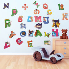 Alphabet ABC Nursery Wall Art Decal Stickers Boy Girl Baby Child Kids Decor
