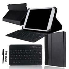 """Leather Stand Cover Case + Bluetooth Keyboard For Various 7"""" 8"""" 10"""" Tablet"""