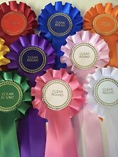 10 X Clear Round Rosettes Great Value