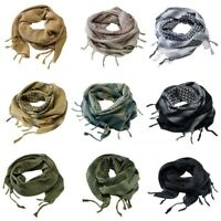 100% Cotton SHEMAGH HEADSCARF Military Keffiyeh Arab Army Woven SAS Veil Wrap UK