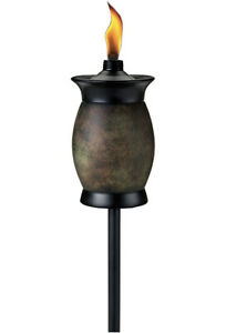 Tiki Torch Brand 4-in-1 Classic 63-Inch Resin Jar Stone Color Yard Light