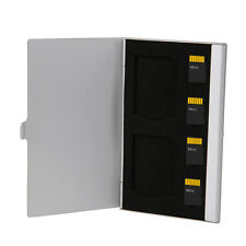 Aluminum 6 in 1SD TF Memory Micro Card Storage Protector Box Hard Case Holder