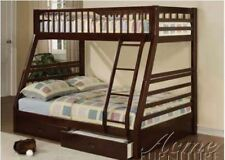 Acme 02020A Modern Style Espresso Finish Twin /Full Bunk Bed with Drawers