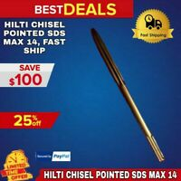 """HILTI CHISEL POINTED SDS MAX 14"""" PREOWNED, FREE EXTRAS, STRONG, FAST SHIP"""