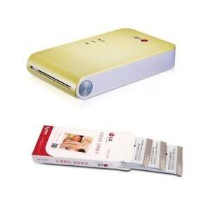 2014 NEW LG Pocket Photo Printer PD239 Yellow + 35 sheet